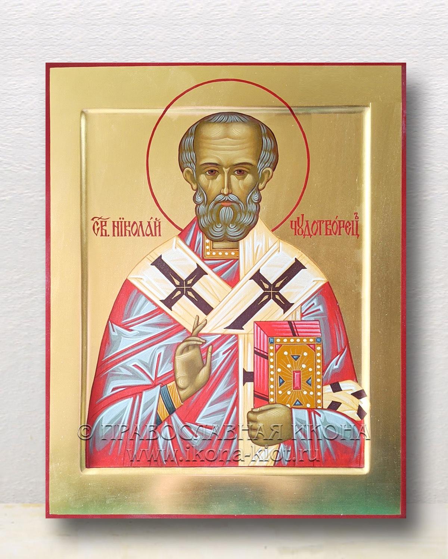 Икона «Николай Мирликийский, чудотворец» (образец №55)