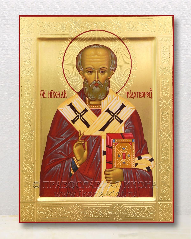 Икона «Николай Мирликийский, чудотворец» (образец №56)