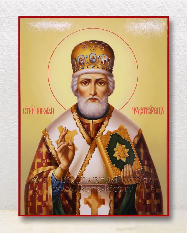 Икона «Николай Мирликийский, чудотворец» (образец №57)