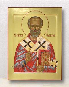 Икона «Николай Мирликийский, чудотворец» (образец №64)