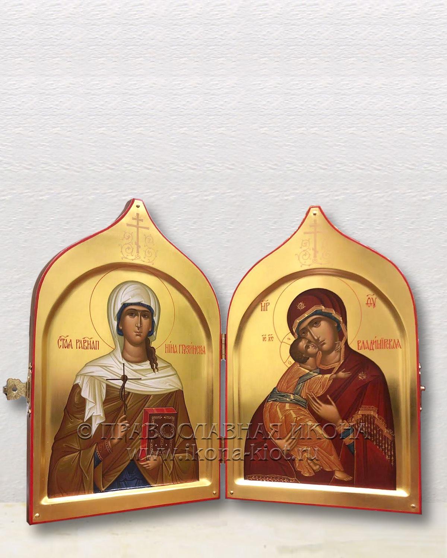 Нина Грузинская и БМ Владимирская (складень)