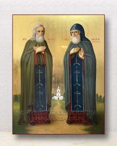 Икона «Павел Обнорский и Макарий Писемский»
