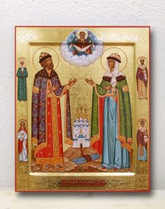 Икона «Петр и Феврония» (образец №14)