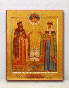 Икона «Петр и Феврония» (образец №17)