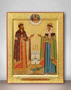 Икона «Петр и Феврония» (образец №18)