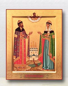 Икона «Петр и Феврония» (образец №25)