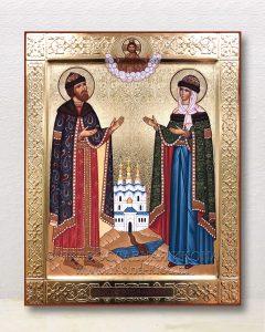 Икона «Петр и Феврония» (образец №28)