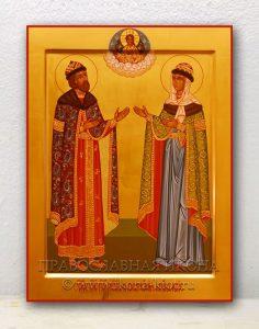 Икона «Петр и Феврония» (образец №4)