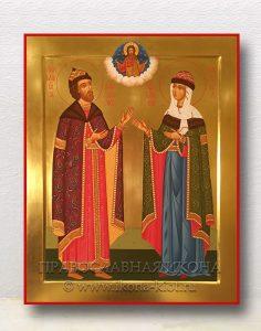 Икона «Петр и Феврония» (образец №8)