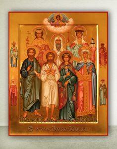 Семейная икона (11 фигур) (образец №1)
