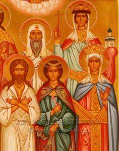 Семейная икона (11 фигур) (образец №3)