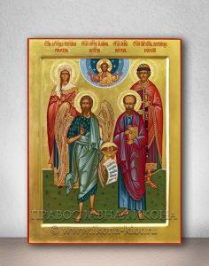 Семейная икона (4 фигуры)