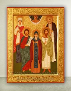 Семейная икона (5 фигур) (образец №1)