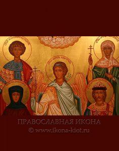 Семейная икона (5 фигур) (образец №2)