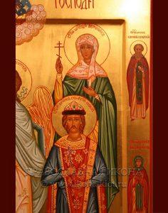 Семейная икона (5 фигур) (образец №3)