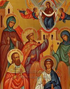 Семейная икона (7 фигур) (образец №2)