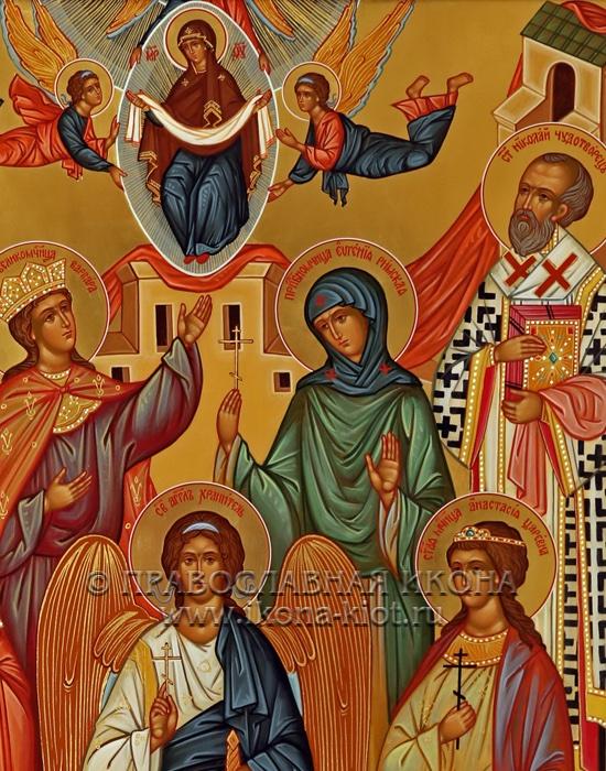 Семейная икона (7 фигур) (образец №3)