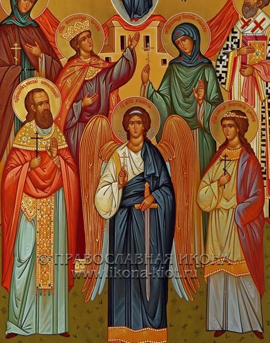Семейная икона (7 фигур) (образец №4)