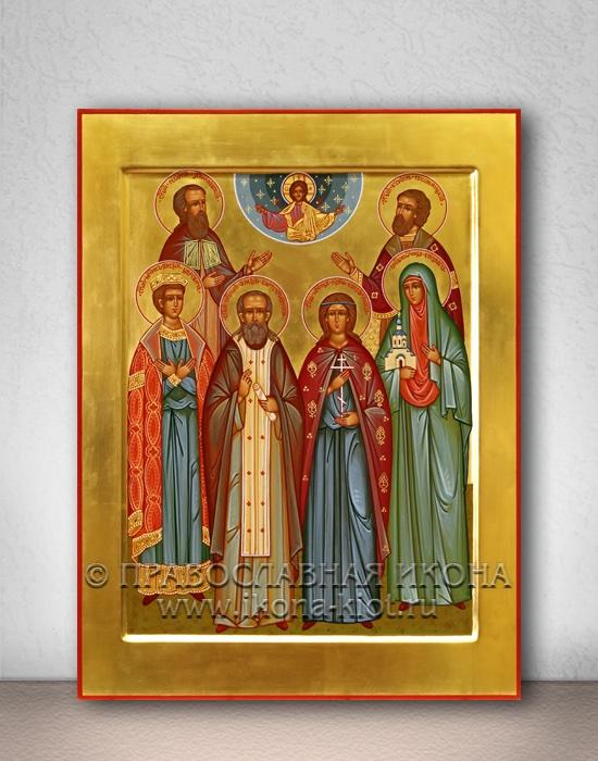 Семейная икона (6 фигур) (образец №1)