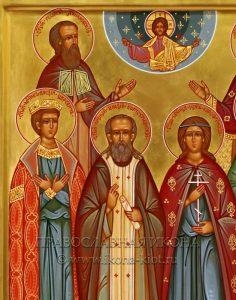 Семейная икона (6 фигур) (образец №2)