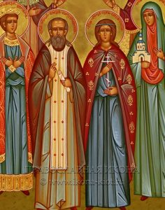 Семейная икона (6 фигур) (образец №4)