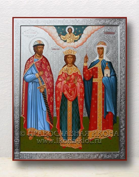 Семейная икона (3 фигуры) (образец №2)