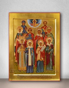 Семейная икона (10 фигур) (образец №1)