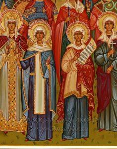Семейная икона (10 фигур) (образец №4)