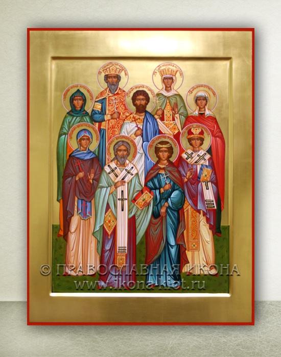 Семейная икона (9 фигур) (образец №1)