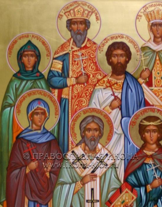 Семейная икона (9 фигур) (образец №2)