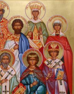 Семейная икона (9 фигур) (образец №3)