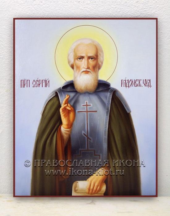 Икона «Сергий Радонежский, преподобный» (образец №18)
