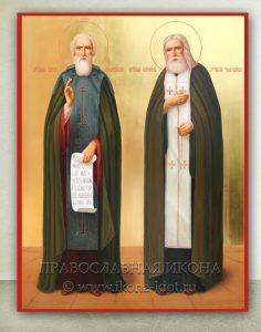 Икона «Сергий Радонежский и Серафим Саровский» (образец №1)