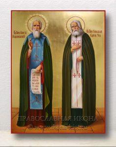 Икона «Сергий Радонежский и Серафим Саровский» (образец №2)
