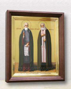 Икона «Сергий Радонежский и Серафим Саровский» (образец №3)