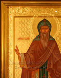 Икона «Сергий Валаамский, чудотворец» (образец №6)