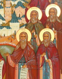 Икона «Собор преподобных Оптинских старцев» (образец №3)
