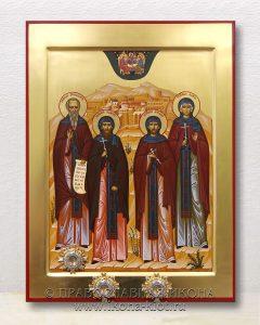 Икона «Собор преподобных (Иоанн, Аркадий, Мария, Ксенофонт»