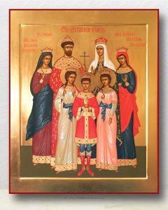 Икона «Царственные страстотерпцы (Царская семья)» (образец №2)