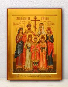 Икона «Царственные страстотерпцы (Царская семья)» (образец №3)