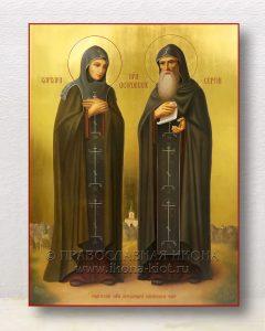 Икона «Сергий и Варвара Островские прп.»