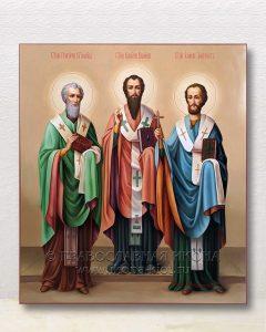 Икона «Василий Великий, Григорий Богослов и Иоанн Златоуст» (образец №1)