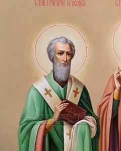 Икона «Василий Великий, Григорий Богослов и Иоанн Златоуст» (образец №2)
