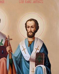 Икона «Василий Великий, Григорий Богослов и Иоанн Златоуст» (образец №4)