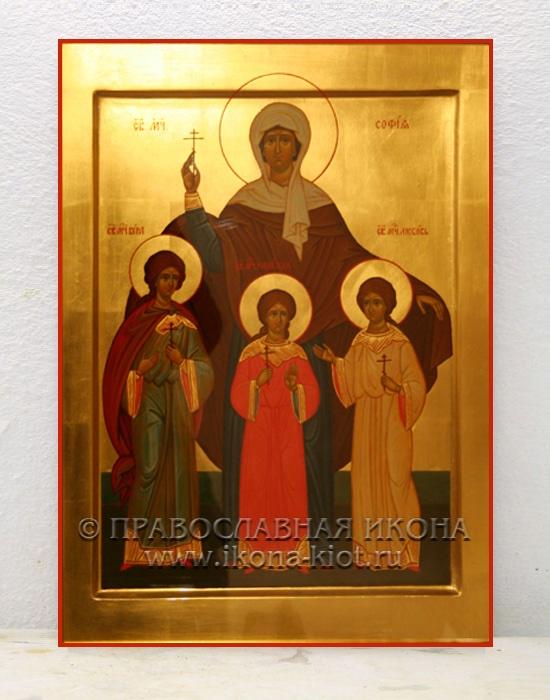Икона «Вера, Надежда, Любовь и София» (образец №1)