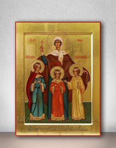 Икона «Вера, Надежда, Любовь и София» (образец №2)