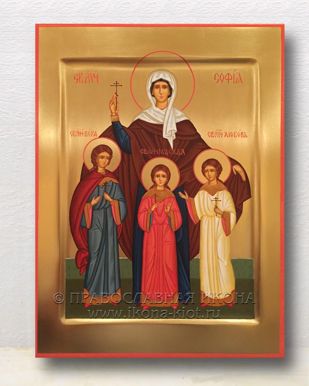 Икона «Вера, Надежда, Любовь и София» (образец №3)