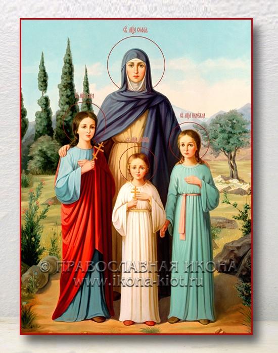 Икона «Вера, Надежда, Любовь и София» (образец №4)
