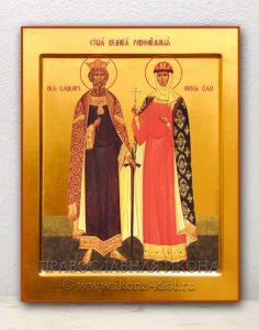 Икона «Владимир и Ольга, равноапостольные» (образец №2)