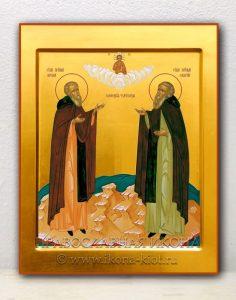 Икона «Зосима и Савватий Соловецкие, прп.» (образец №3)